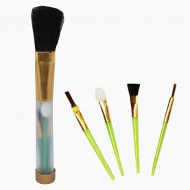 SB006 набор кистей для макияжа 15см-1шт +4шт-6см ОРР 29 гр. (24шт/уп 1200/кор)