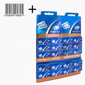 BLD03 MAX Platinum Blade +стикер шк лезвие, темно-синяя упак, на картоне , 5 лезвий в коробочке 5*2,7 см 116 гр.(1 шт/уп 2000/кор) цена за 20 коробочек