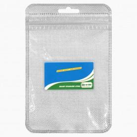 BLD02 MAX SUPER BLADE ZIP+стикер шк лезвие, голу-бел полосы упак, на картоне 5 лезв в короб 5*2,5 см 7 гр.(20 шт/уп 2000/кор) цена за 1 штуку