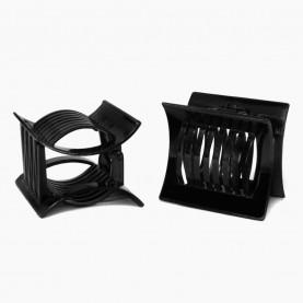 HP411 заколка-крабик для волос КВАДРАТ 5см 4 зубчика 11 гр.12шт/уп ОРР/2400шт)