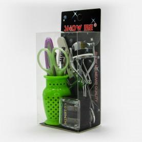 SB013 макияжный набор /10 предметов/ кувшинчик в пластик упак 14*6*11см (24шт/уп 432/кор)65 гр.