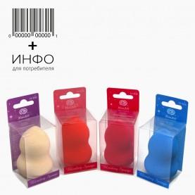 SPN17+стикер ш/к спонж-бленд пика, купол. универсал для макияжа увеличивающ 5,5см d-4см. В ПЛАСТ КОРОБОЧ 16гр.(12 шт/уп)