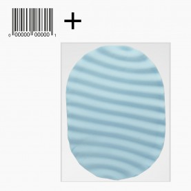 SPN32+стикер ш/к губка волна для умывания и снятия макияжа и тела овал ребра влажный 11,5*8,5 см(толщ) ОРР 26 гр (10шт/уп ZIP 25*18)