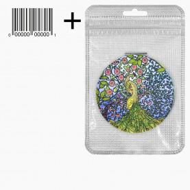MIR_404 zip10*15+стикер ш/к зеркало 2ое с увеличением складное карманное КРУГ 7,5 см МИКС - СКАЗОЧНАЯ СТРАНА 45 гр.(12 шт/уп 360/кор)