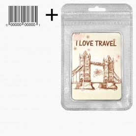 MIR_509 zip10*15+стикер ш/к зеркало 2ое с увеличением складное карманное ПРЯМОУГОЛЬНИК 9*6,5 см МИКС - I LOVE TRAVEL 82гр.(12 шт/уп 288/кор)