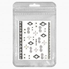 NA101(12) Zip8*13+стикер ш/к наклейка выпуклая маникюрная 6,5*5,5 см 1 гр. (50шт/уп ZIP 15*20) ассортимент