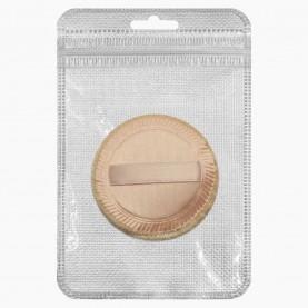SPN01-2 ZIP8*13+стикер ш/к разноцвет велюровая пуховка с ручкой 6 см. мягоньк 1гр. (20 шт/уп )