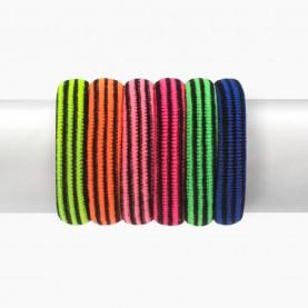HP 07-3 заколка-резинка 2.5 см полосатый разноцветный МИКС (зеленый, розов, оранж, лимон, синий) в упаковке 90-100 шт (100 шт в ОРР) за 1 шт