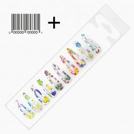 HCL301 + стикер шк ЗАЖИМЫ КЛИК-КЛАК для волос в ОРР на БЛИСТЕРЕ 10 шт, 3*1 см рисунок МИКС цена за блистер 5гр (12 блистеров/уп)