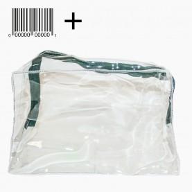 CB 01-4 косметичка стикер + ш/к PVC 20*12,5*8cm прямоугольная прозрачная плотная (10шт/уп ZIP 25*35-1000шт/кор)