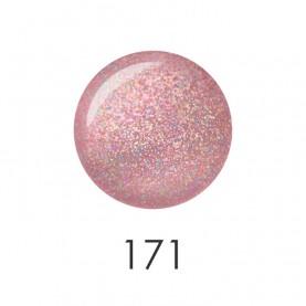 NP001_171 лак для ногтей 12 мл (дымчато-розовый с блестками) 12 шт/кор 480шт