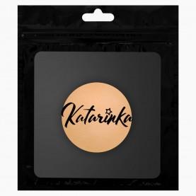 SPN16 ZIPKatarinka+стикер шк спонж-универсал для макияжа прямоуг и кругл бежевый диам 4,5*5,5 см 2 гр (10 шт/уп zip 17*25 2000/кор)