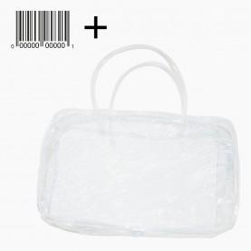 CB 01-6 + стикер шк косметичка банная 24*15*9см прямоугольная прозрачная с ручками 36 гр.(10шт/уп 1000шт/кор) слюда