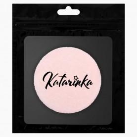 SPN03 ZIP Katarinka + стикер шк велюровая пуховка с кармашком 8 см 5гр. (10шт/уп 3000/кор)