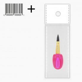 A010 ОРР+шк аппликатор-кисть для макияжа - стик 5 см прозрачный 2 гр. (25 шт/уп 5000 шт/кор)