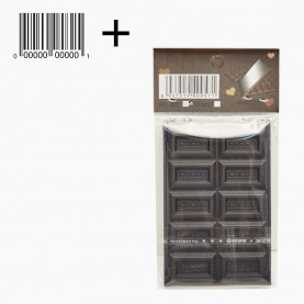 MIR17 +стикер шк зеркало прямоугольное кейс плитка ШОКОЛАДа 5,5*8,5 см (10 долек)в ОРР на кипине 29 гр.(12 шт/уп 720/кор)