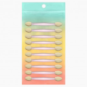 A003-10 ZIPград+стикер шк аппликатор для макияжа 10шт 2 сторонний 7,7 см 10 гр.(10шт/ZIP)