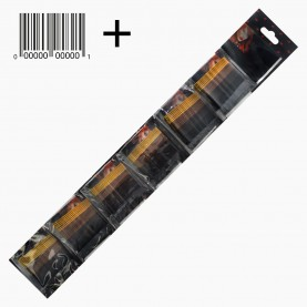 HCL 14 +стикер шк на ОРР Невидимки для волос в ОРР на БЛИСТЕРЕ 24 шт, длина 5см МИКС:4 цвета/ цена за БЛСТ (144 шт=6 ОРР) 93гр. (1 блстр/уп 288/ кор)
