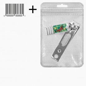 CLP20 AV +стикер шк клиппер разноцв эмаль матовая *птички*бабочки* стальные с пилочкой 5см. 13 гр12/уп-1200шт/кор) форма прямоугольная