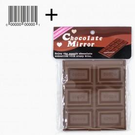 MIR 21 + стикер шк зеркало кейс плитка ШОКОЛАДа, 7,5*8,5 см в ОРР на кипине 43 гр.(12 шт/уп 540/кор)