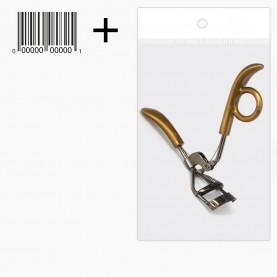 "зажим CRL16 OPP 10*14 зажим для завивки ресниц ""серебро"" ручка-одна петля упорная 3,5*11см. 30 гр (12 шт/уп, 600шт/кор) металл + стикер ш/к"