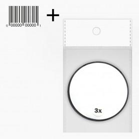 MIR 03 OPP+стикер ш/к зеркало КРУГ на присоске 1-х сторонн 7,5см , 3х увеличение на блистере 26 гр. (12 шт/уп 360/кор)