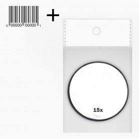MIR 08 OPP+стикер ш/к зеркало КРУГ на присоске 1-х сторонн 8,5см , 15х увеличение на блистере 40 гр. (12 шт/уп 300/кор)