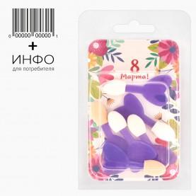 """Набор A012-6 тема """"Весна"""" аппликаторы для макияжа 6шт + открытка 12 гр (6 наб/уп)"""