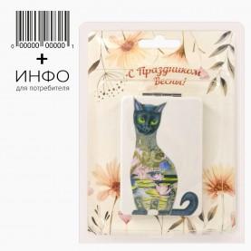 """Зеркало тема """"Весна"""" прямоугольное складное 2ое с увеличением 1 шт + открытка 60 гр (6 шт/уп)"""
